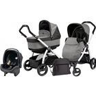 Peg Perego - Carucior 3 in 1 Book Plus S Black White POP-UP