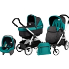 Peg Perego - Carucior 3 in 1 Book Plus 51 Black White POP-UP