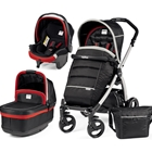 Carucior 3 in 1 Book Plus Black Silver POP-UP Synergy, Peg Perego