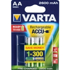 Set 2 Acumulatori AA 2600 mAh Ready to Use, VARTA