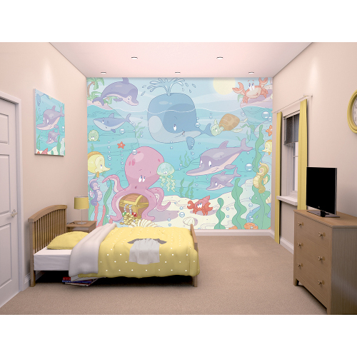 Tapet pentru Copii Baby Under the Sea, Walltastic