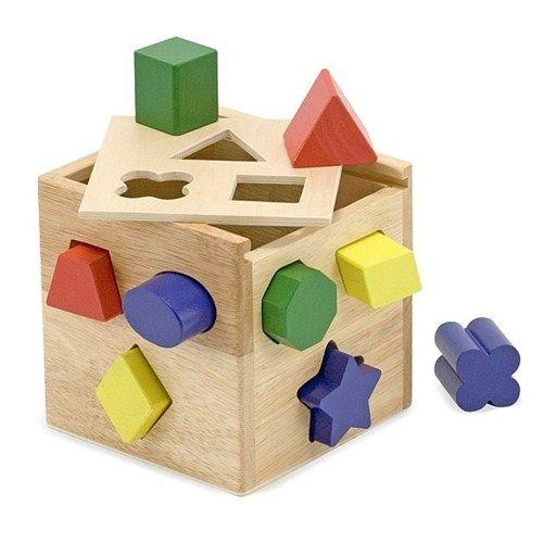 Cub din Lemn cu Forme de Sortat, Melissa and Doug
