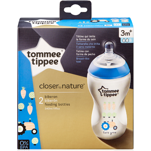Biberon Decorat Closer to Nature 340 ml TS, Tommee Tippee