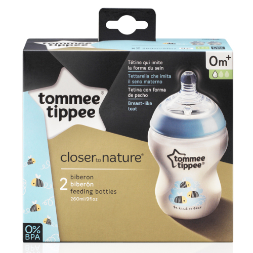 Biberon Decorat Closer to Nature 260 ml TS, Tommee Tippee