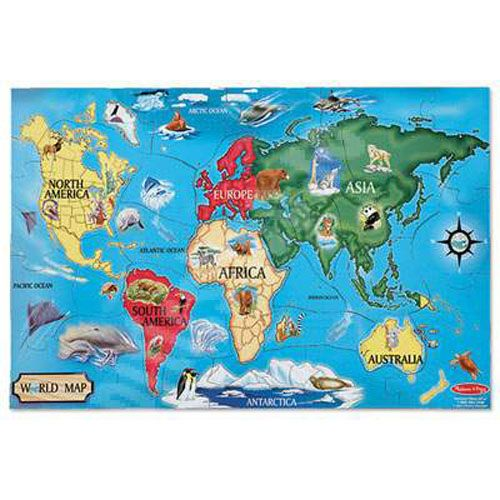 Puzzle de Podea Harta Lumii, Melissa and Doug