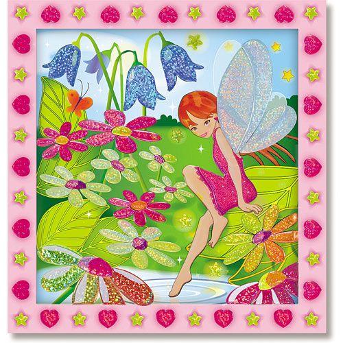 Set de Creatie Mozaic pe Numere Gradina Zanelor, Melissa and Doug
