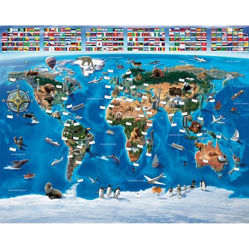 Tapet pentru Copii Harta Lumii, Walltastic