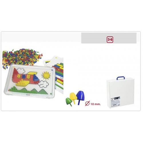 Set Didactic Mozaic 10 mm Pentru 6 Copii, MINILAND Group