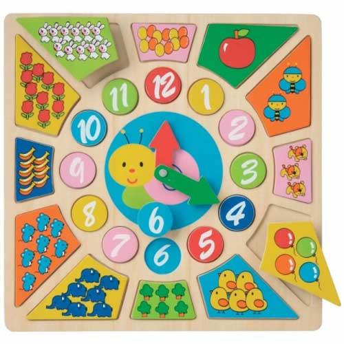 Ceas Educativ din Lemn, New Classic Toys