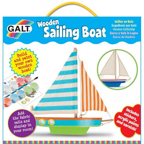 Wooden Sailing Boat - Kit Barca din Lemn cu Vele, Galt