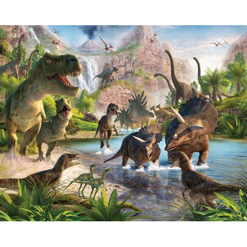 Tapet pentru Copii Dinosaur Land, Walltastic