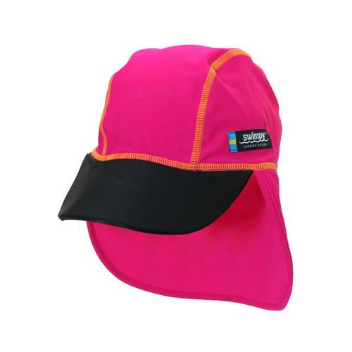 Sapca Pink Black 4-8 ani Protectie UV, Swimpy