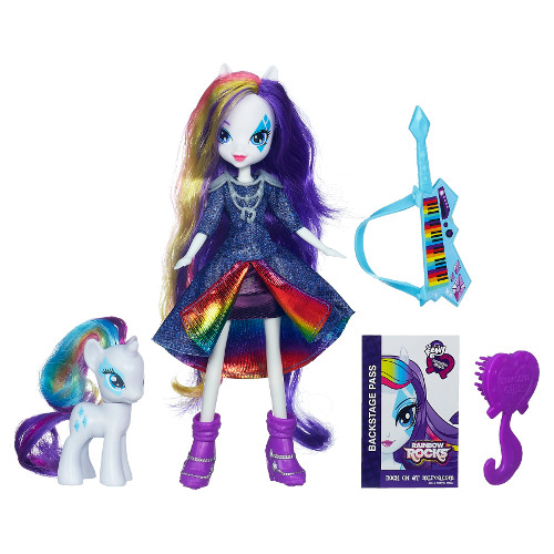 Hasbro - My Little Pony Set Equestria Girls Rarity Doll cu Ponei