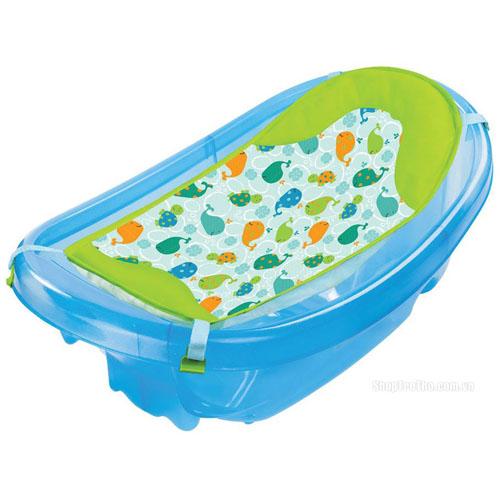 Set Cadita si Suport de Baita Sparkle and Splash Blue, Summer Infant