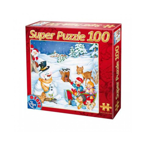 D-Toys - Super Puzzle 100 Piese Craciun