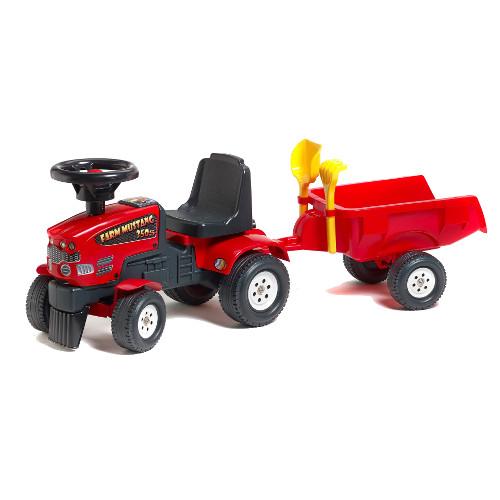 Tractoras Baby Farm Mustang cu Remorca, Falk