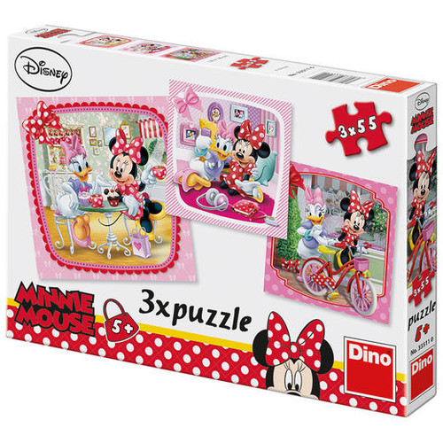Puzzle 3 in 1 - Vizita lui Minnie, Dino Toys