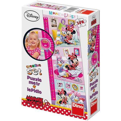 Puzzle cu masuratoare - Minnie si Daisy - 150 Piese, Dino Toys