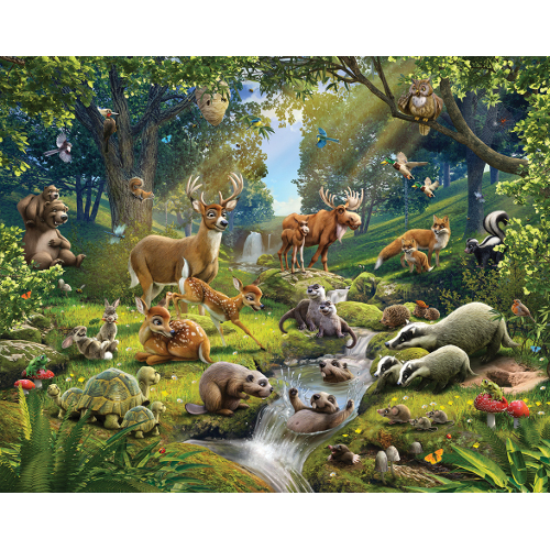 Tapet pentru Copii Animals of the Forest, Walltastic