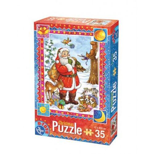 D-Toys - Puzzle Craciun cu 35 Piese Model 2