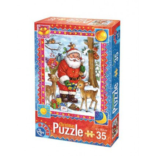 D-Toys - Puzzle Craciun cu 35 Piese Model 1