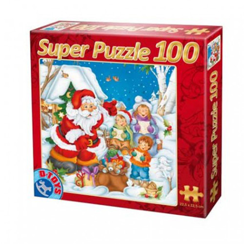 D-Toys - Super Puzzle 100 Piese Mos Craciun