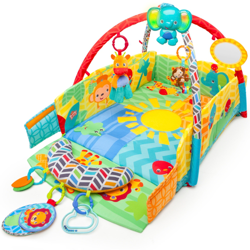 Salteluta de Joaca 5in1 Sunny Safari Baby s Play Place, Bright Starts