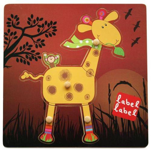 Label Label - Puzzle din Lemn Girafa