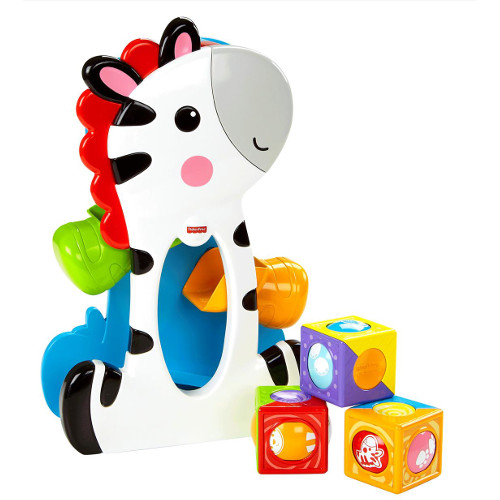 Zebra Creativa cu Cuburi, Fisher-Price