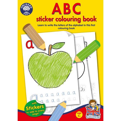 Carte de Colorat cu Activitati in Limba Engleza si Abtibilduri ABC , Orchard Toys