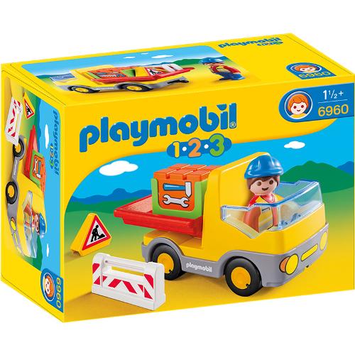 1.2.3 - Camion De Constructii, Playmobil
