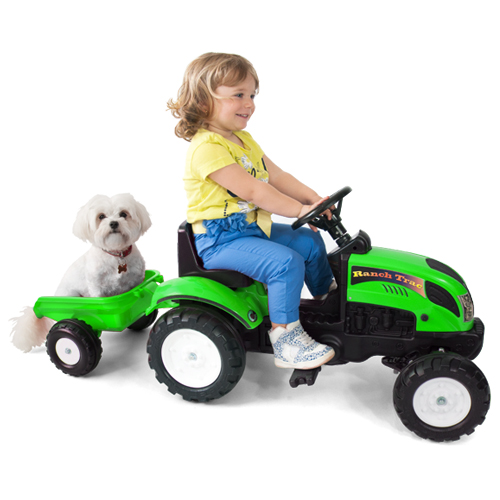 Tractor cu Remorca Garden Master Green, Falk