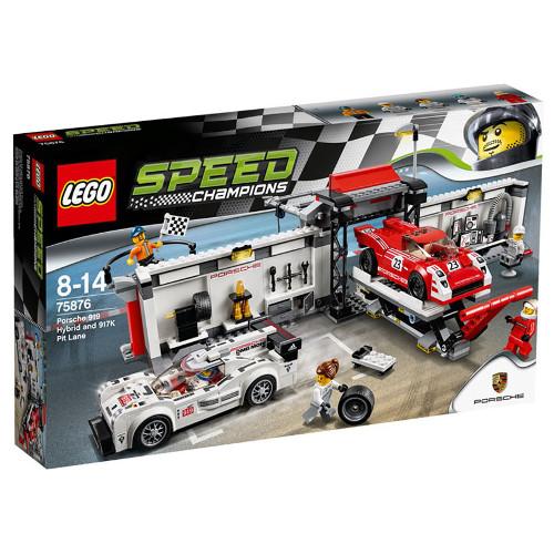 Speed Champions - Porsche 919 Hybrid si 917K Pit Lane 75876, LEGO