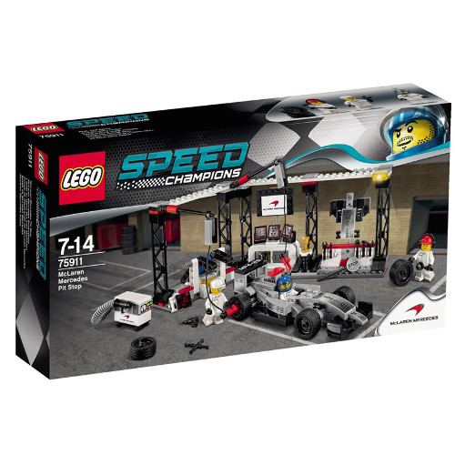 Speed Champions - Oprirea la Boxe McLaren Mercedes 75911, LEGO