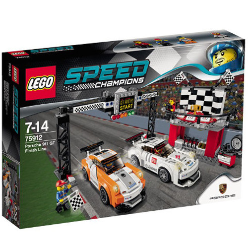 Speed Champions - Porsche 911 GT la Linia de Finis 75912, LEGO