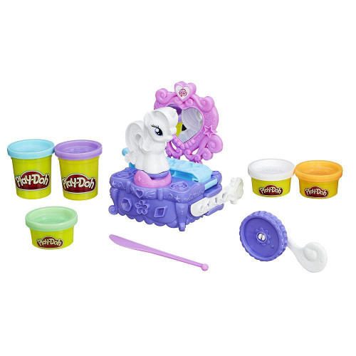 Set Plastilina Play-Doh My Little Pony Rarity Style and Spin, Hasbro