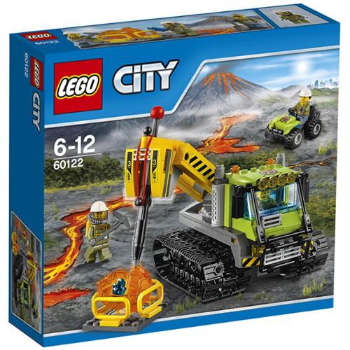 City - Tractor cu Senile pentru Vulcan 60122, LEGO
