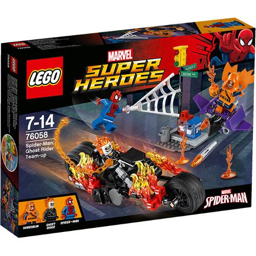 Super Heroes - Spiderman: Alaturarea Fortelor Calaretului Fantoma 76058, LEGO