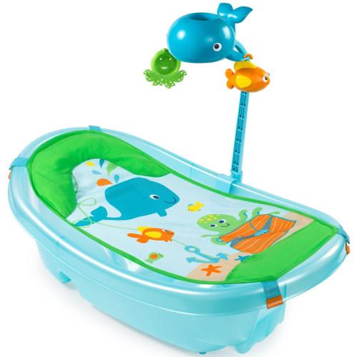 Set Cadita si Suport de Baita Ocean Buddies Blue, Summer Infant
