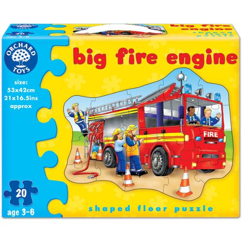 Puzzle de Podea Masina de Pompieri 20 Piese, Orchard Toys