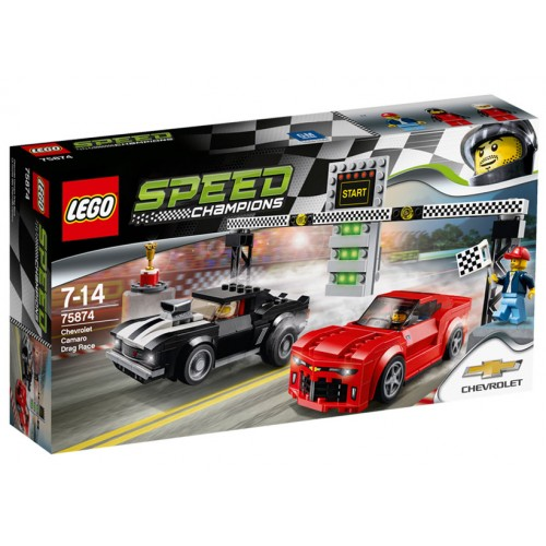 Speed Champions - Cursa de Dragstere Chevrolet Camaro 75874, LEGO