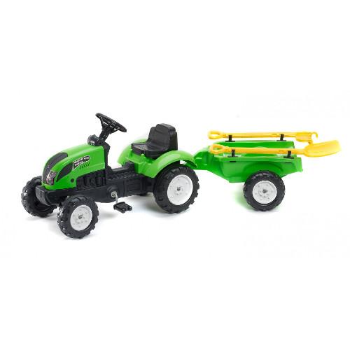 Tractor cu Remorca Garden Master si Unelte  Green, Falk