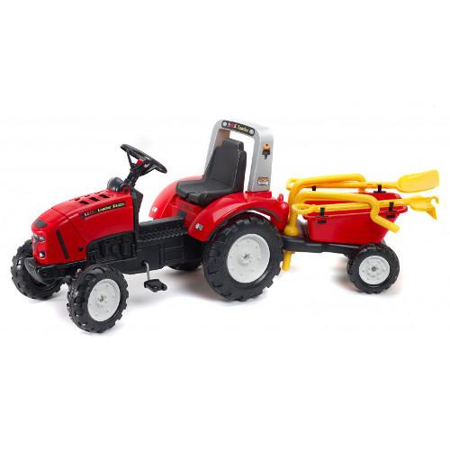 Tractor Lander Rosu cu Remorca, Falk