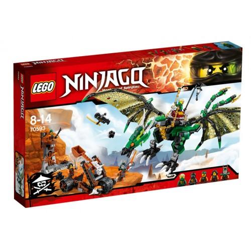 NINJAGO - Dragonul Verde NRG 70593, LEGO