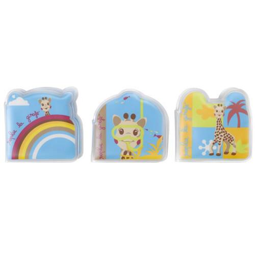 Vulli - Set de 3 Carti pentru Baie Girafa Sophie