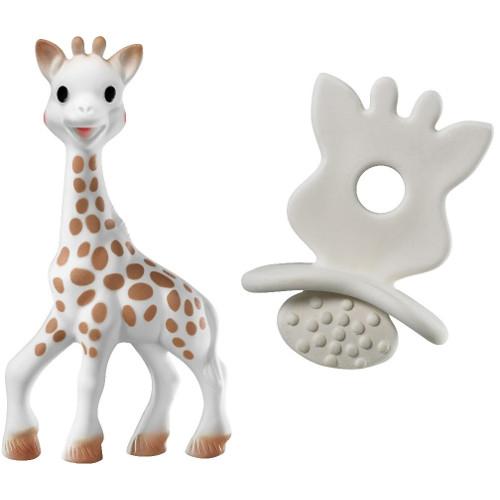 Set Girafa Sophie si Figurina din Cauciuc So Pure, Vulli