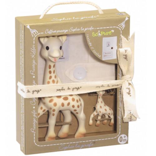 Set Prestige So Pure Girafa Sophie cu Breloc, Vulli