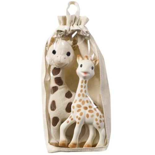 Vulli - Set Girafa Sophie din Cauciuc si Girafa din Plus