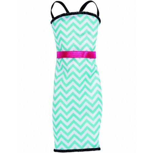 Fashions Dress - Rochita Barbie Stil Teal Stripe, Mattel