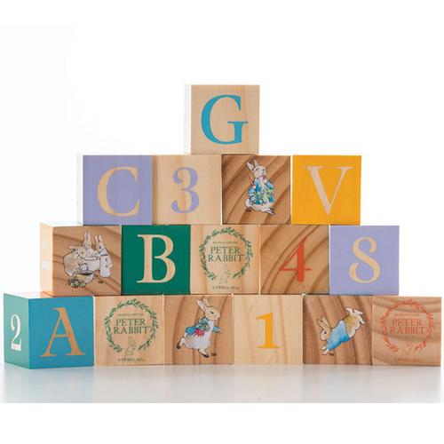 Peter Rabbit - Joc 16 Cuburi din Lemn, Rainbow Design